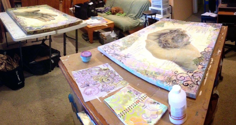 artworks in progress by Judith Monroe