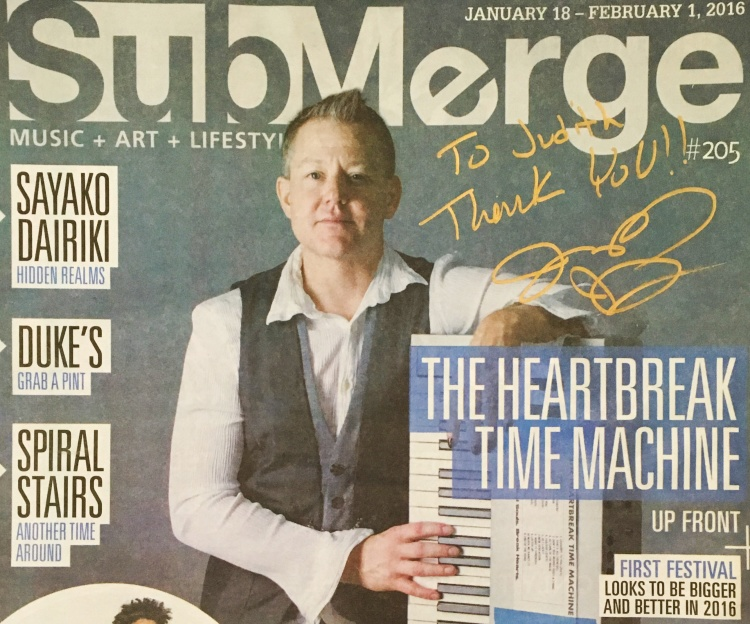 The Heartbreak Time Machine on the cover of Submerge Magazine
