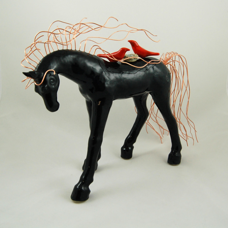 Black Beauty Shelter Horse by Michelle MacKenzie