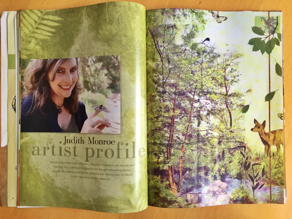 Judith Monroe featured in Cloth Paper Scissors Magazine