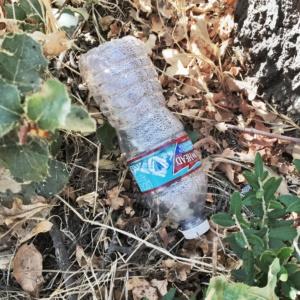 water bottle litter