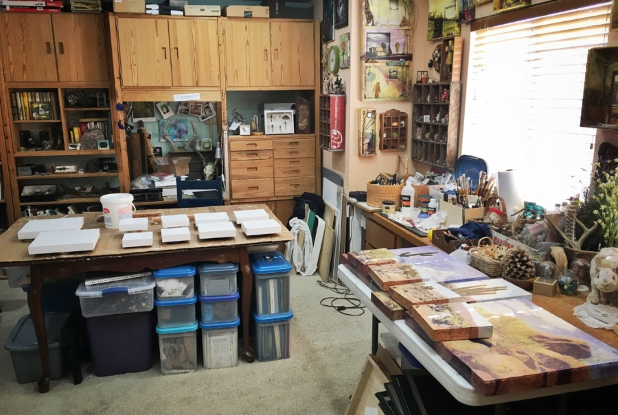 Art studio of Judith Monroe