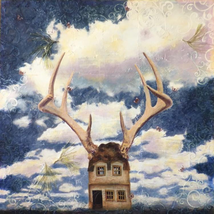 Revelation - mixed media artwork by Judith Monroe